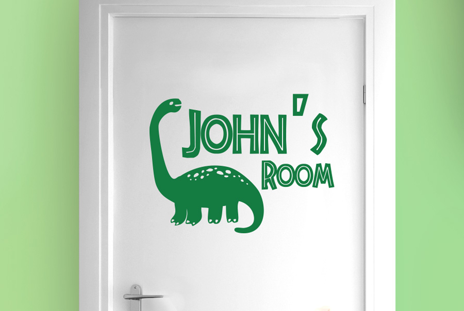 Personalized-brachiosaurus-dinosaur-boy-room-door-Wall-Stickers- & Personalized brachiosaurus dinosaur boy room door Wall Stickers ...