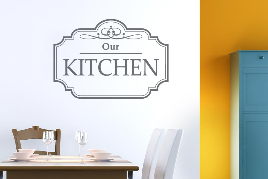 classic our kitchen sign wall stickers decals decor
