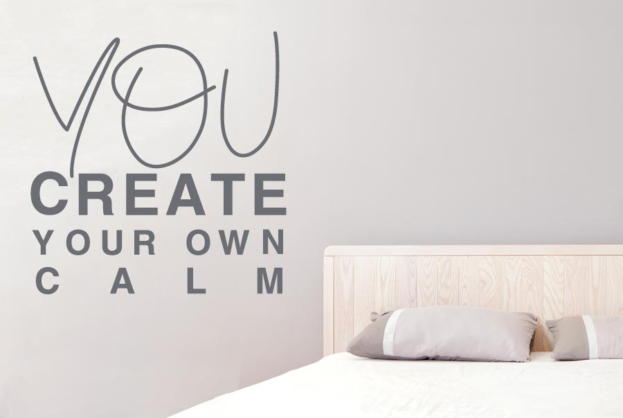 you create your own calm wall stickers decals art life. Black Bedroom Furniture Sets. Home Design Ideas